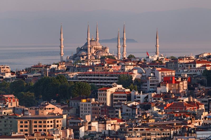 Blauwe moskee in Istanboel royalty-vrije stock foto's