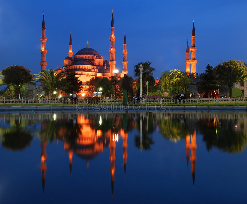 Blauwe Moskee - Istanboel royalty-vrije stock foto