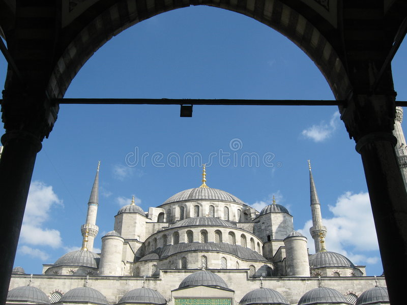 Blauwe Moskee in Istanboel royalty-vrije stock fotografie