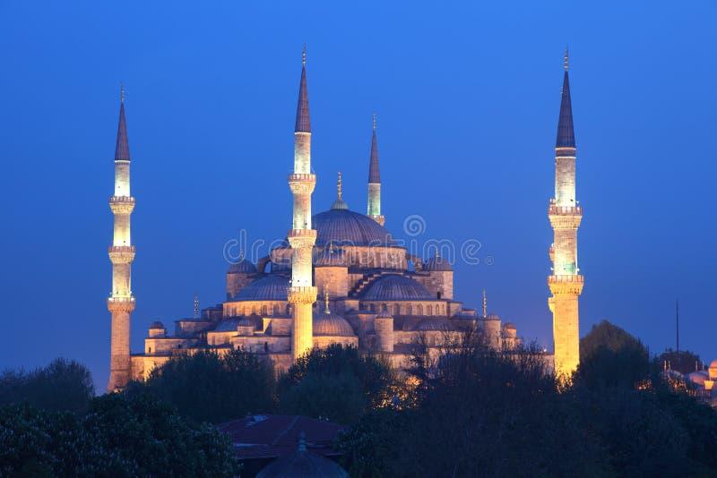 Blauwe Moskee in Istanboel, Turkije stock foto's