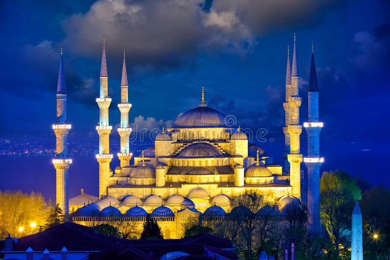 Blauwe moskee in Istanboel stock fotografie