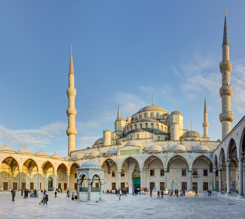 Blauwe moskee (Sultan Ahmed Mosque), Istanboel, Turkije stock fotografie