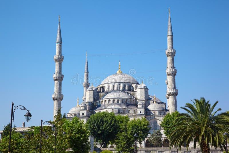 Blauwe Moskee (Sultanahmet Camii) in Istanboel royalty-vrije stock afbeeldingen