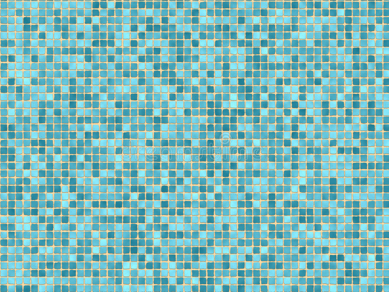 Blauwe mozaïektegels vector illustratie