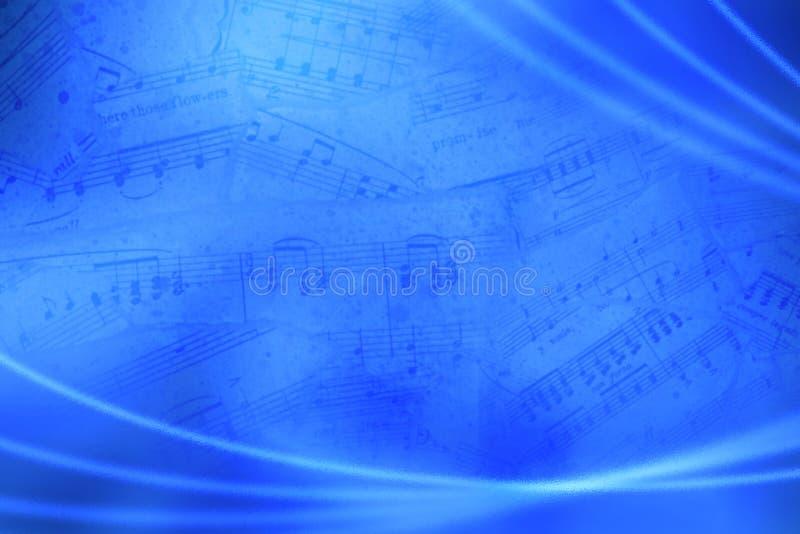 Blauwe muzikale abstracte achtergrond stock afbeeldingen