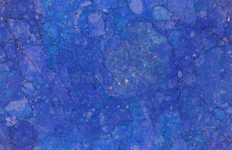Blauwe natuurlijke naadloze marmeren het patroonachtergrond van de steentextuur De ruwe oppervlakte van de natuursteen naadloze m royalty-vrije stock foto's