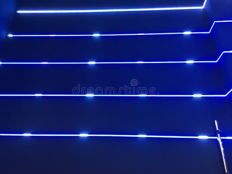 Blauwe neonlichten vector illustratie