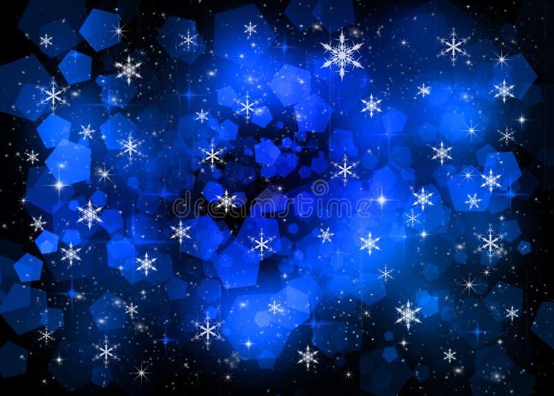 Blauwe Nieuwe jaarachtergrond stock illustratie