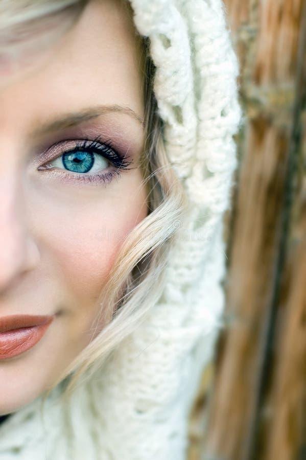 Blauwe ogen royalty-vrije stock afbeeldingen