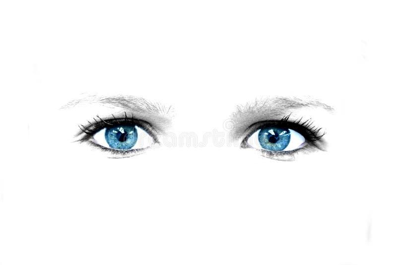 Blauwe ogensamenvatting royalty-vrije stock afbeelding