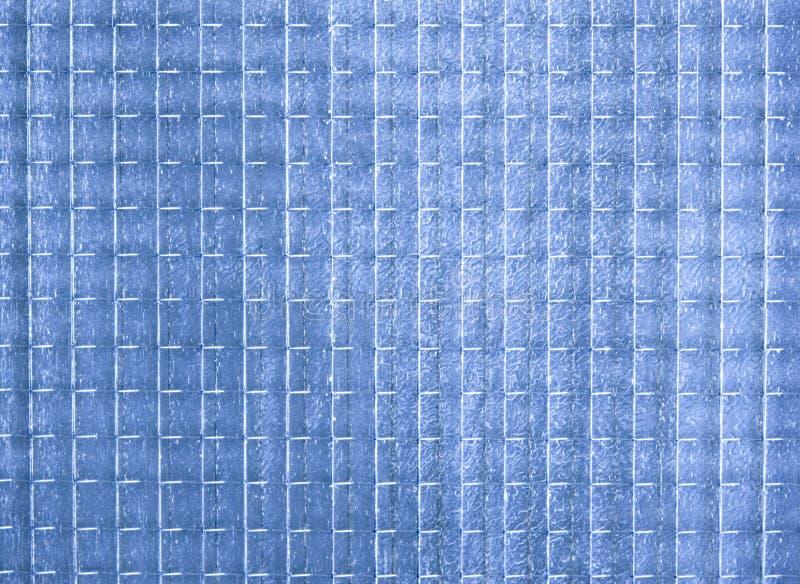 Blauwe ondoorzichtige glastextuur stock fotografie