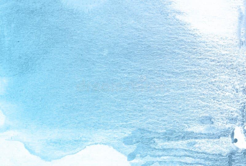 Blauwe oude antieke de verfachtergrond van de textuurwaterverf, van letters voorziende plakboekschets stock afbeelding