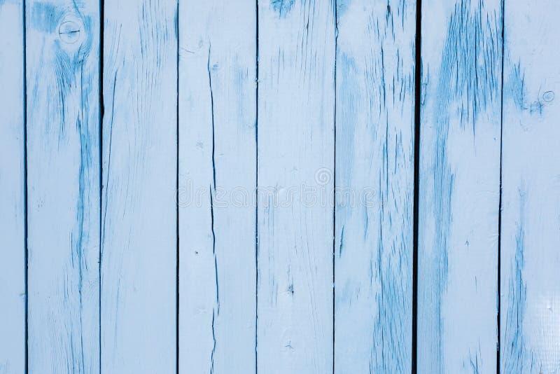 Blauwe oude ruwe houten geweven achtergrond Rustiek hout geschilderde muur stock foto