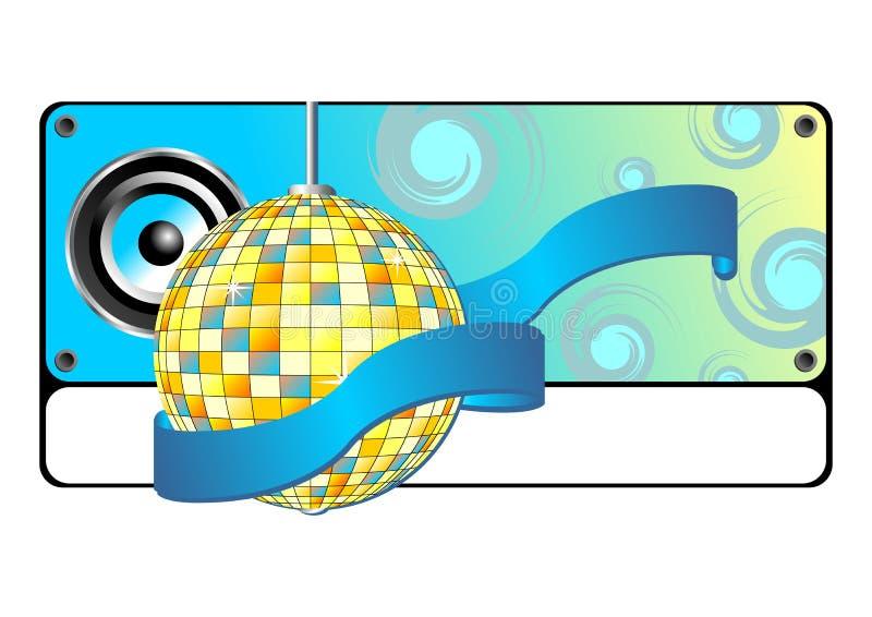 Blauwe partijbanner stock illustratie
