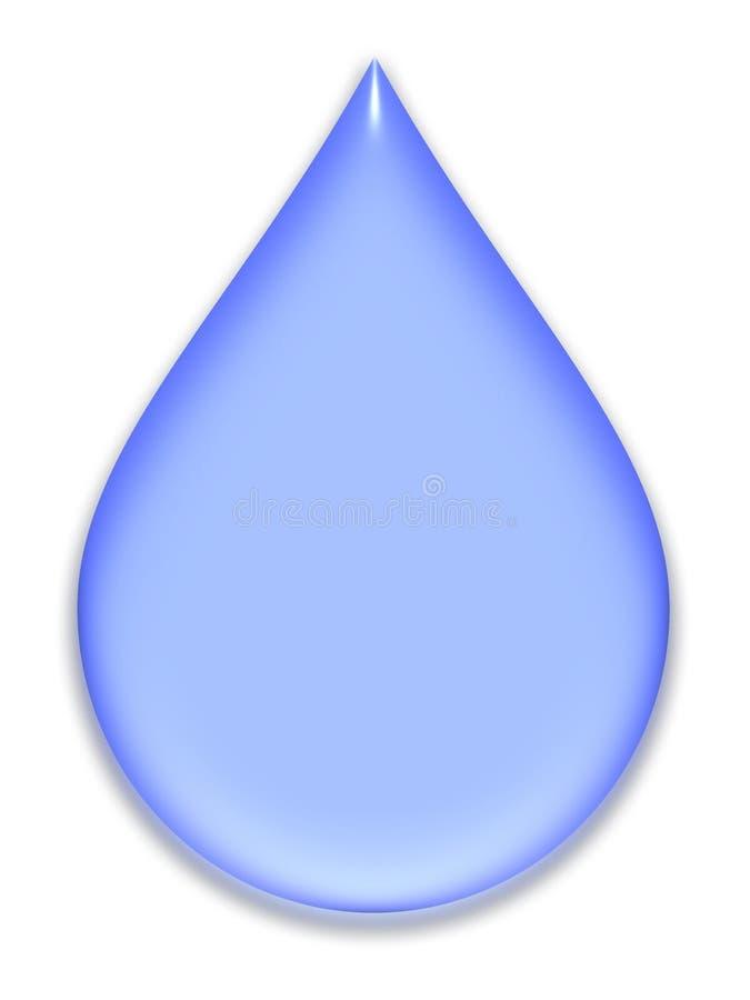 Blauwe pastelkleurdaling vector illustratie