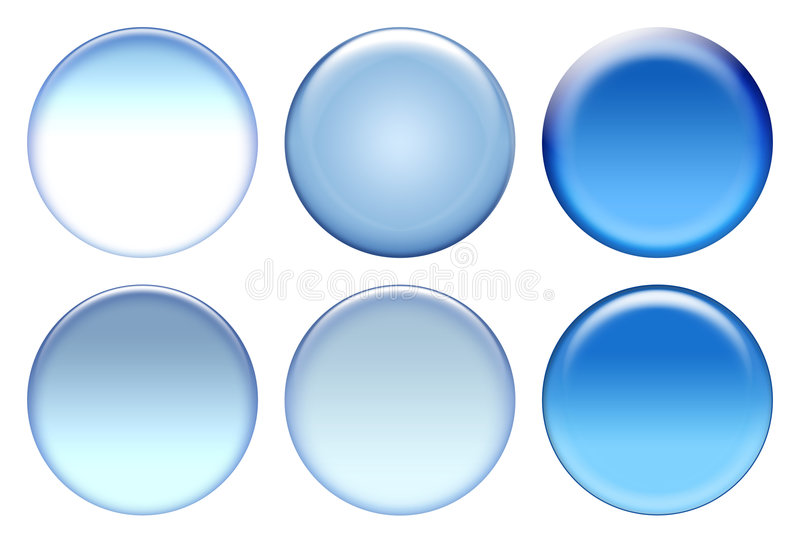 Blauwe pictogramreeks stock illustratie