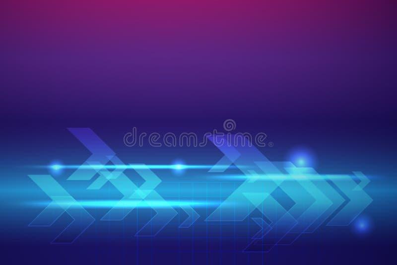 Blauwe pijlen abstracte vectorachtergrond stock illustratie