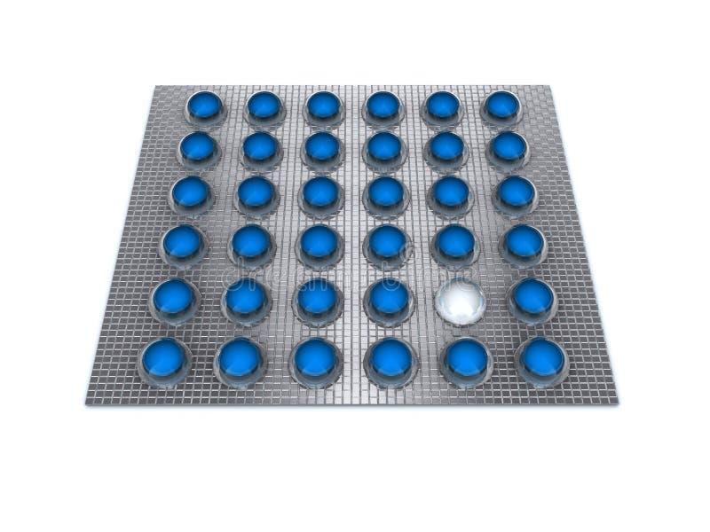 Blauwe pillen stock illustratie