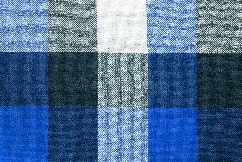 Blauwe plaid stock foto