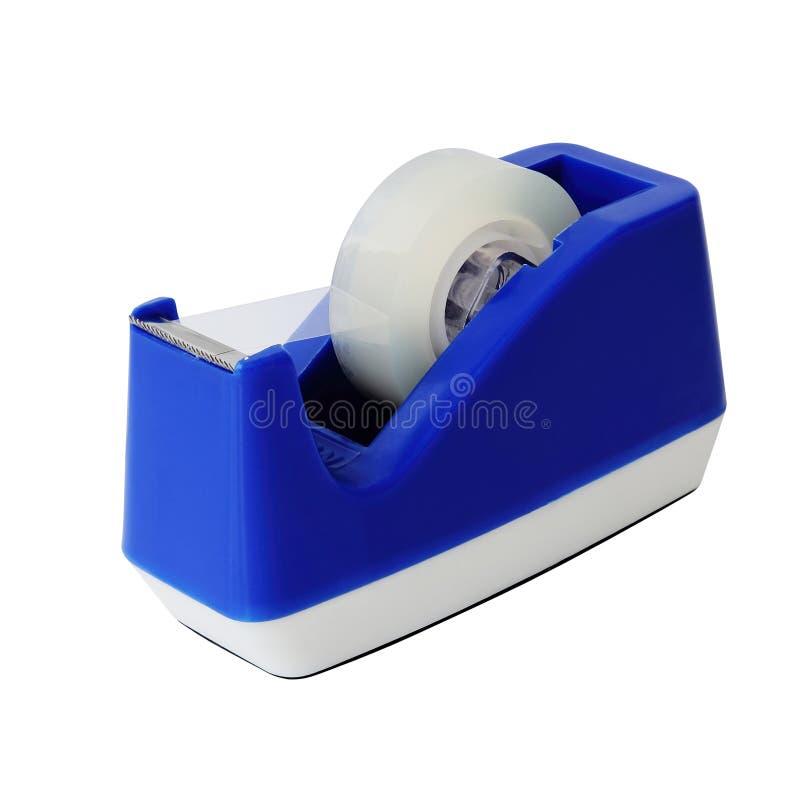 Blauwe plakbandhouder stock afbeelding