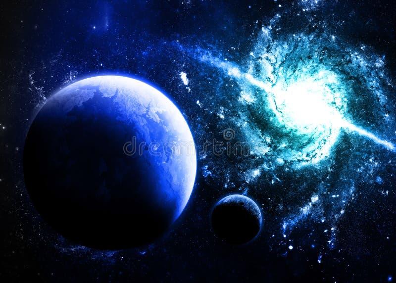 Blauwe Planeet vector illustratie