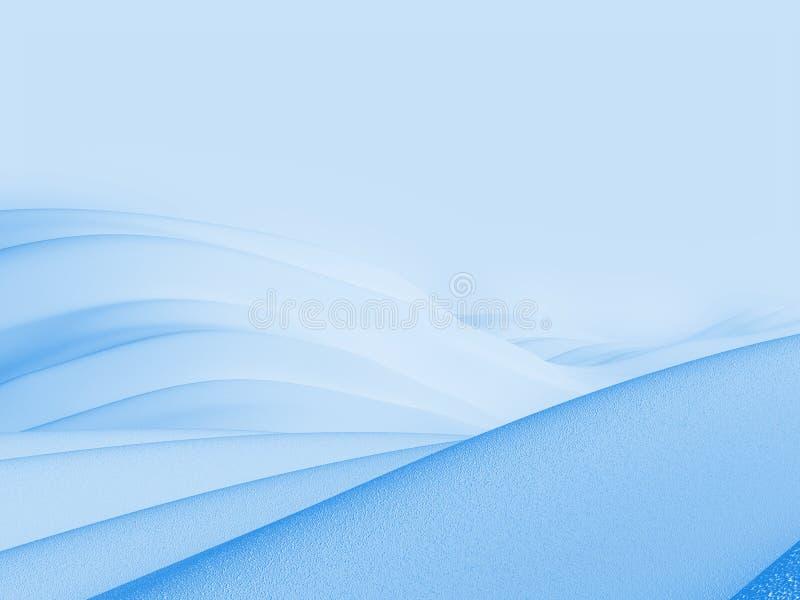 Blauwe planeetachtergrond royalty-vrije illustratie