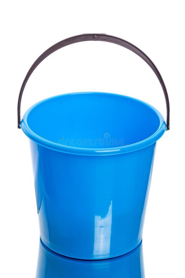 Blauwe Plastic emmer royalty-vrije stock foto's
