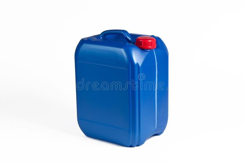 Blauwe Plastic Jerrycan stock foto's