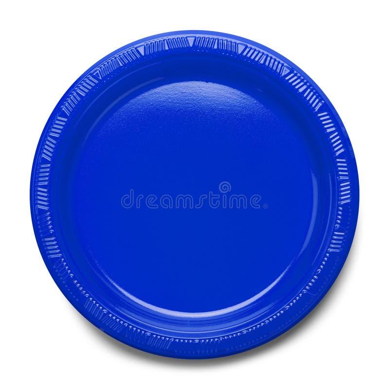 Blauwe plastic plaat royalty-vrije stock foto's