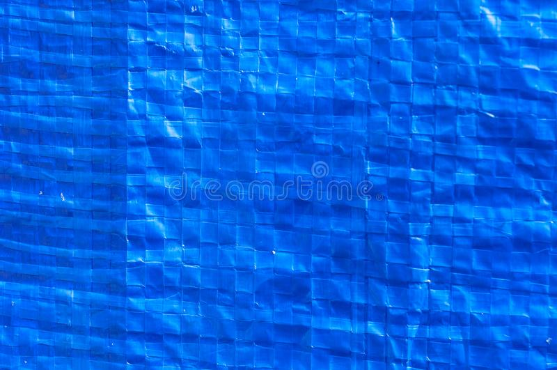Blauwe Plastic Zak stock foto