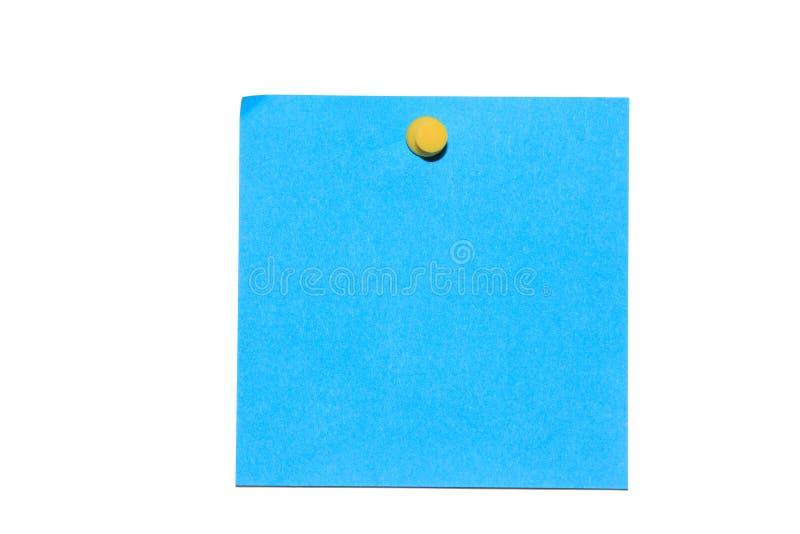 Blauwe post-it royalty-vrije stock fotografie