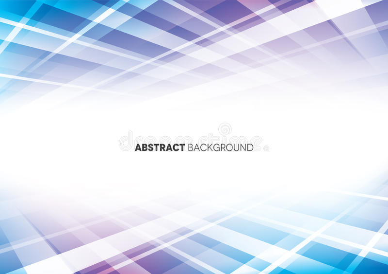 Blauwe & Purpere Abstracte Achtergrond royalty-vrije illustratie