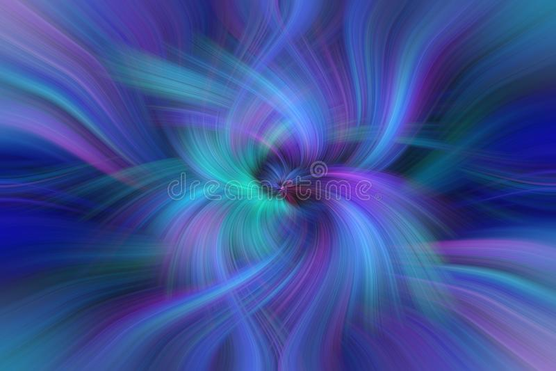Blauwe Purpere Groene samenvatting Conceptenoneness met het Heelal royalty-vrije illustratie