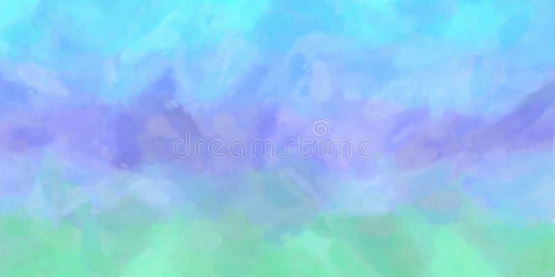 Blauwe Purpere Groene Waterverfachtergrond vector illustratie