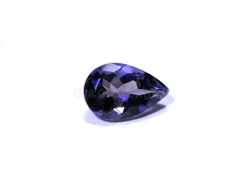 Blauwe purpere halfedelsteen stock afbeelding