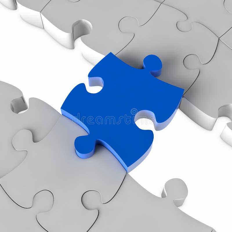 Blauwe puzzelbrug vector illustratie