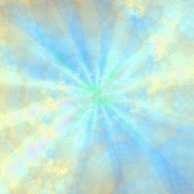 Blauwe Ray Abstract Background royalty-vrije illustratie