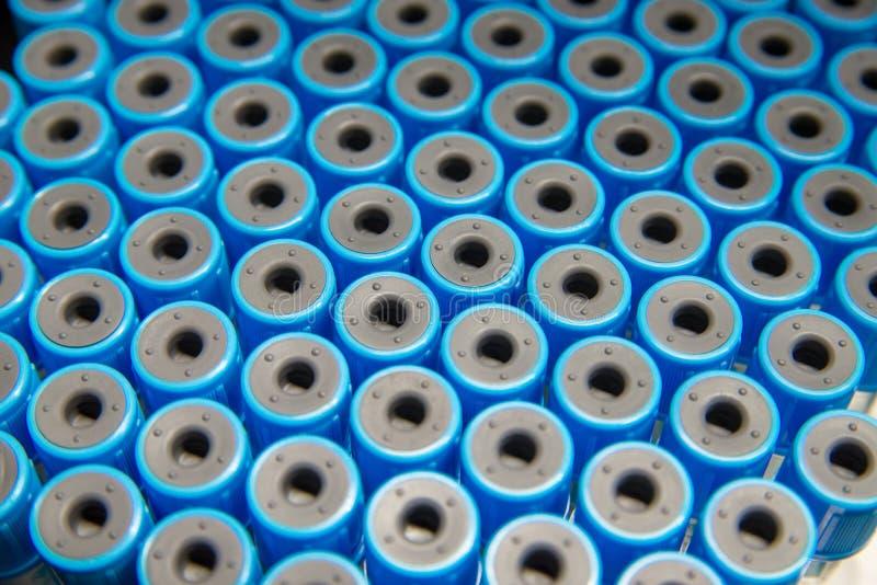 Blauwe reageerbuiskappen stock foto's