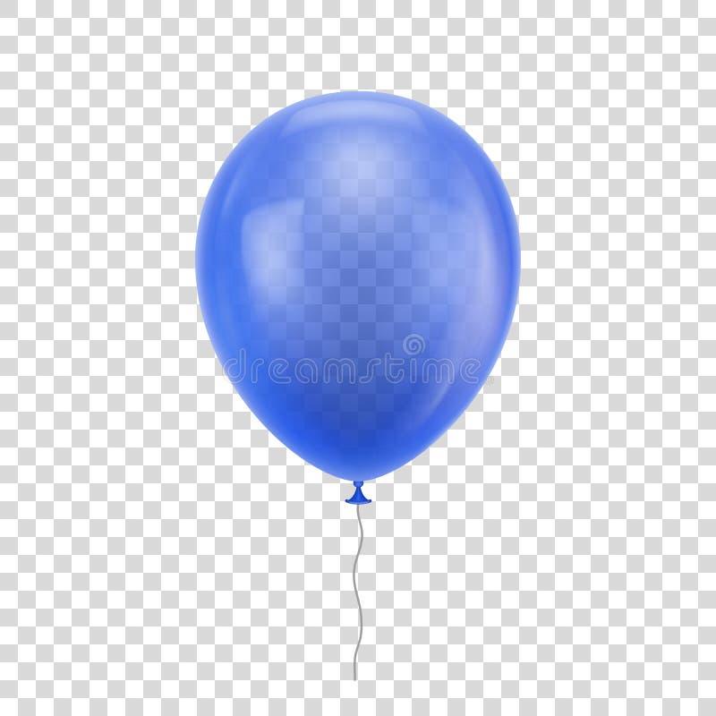 Blauwe realistische ballon royalty-vrije illustratie