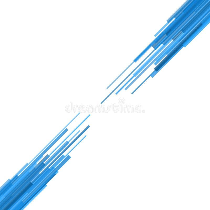 Blauwe Rechte lijnen Abstracte Achtergrond. Vector stock illustratie