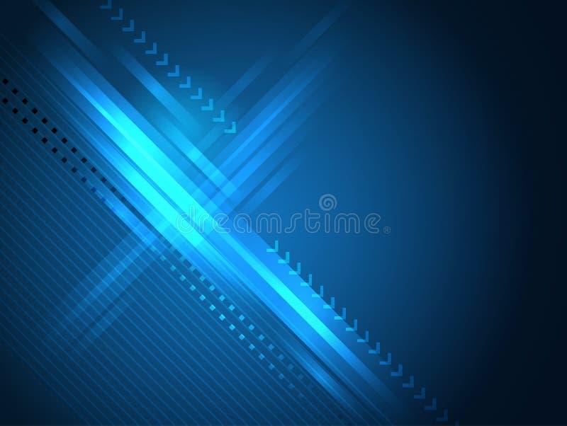 Blauwe Rechte lijnen abstracte vectorachtergrond vector illustratie