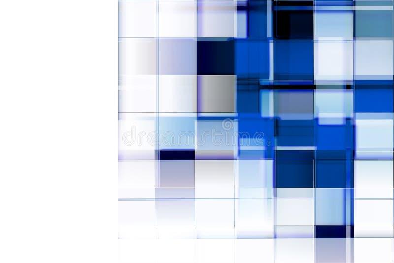 Blauwe rechthoekenachtergrond vector illustratie