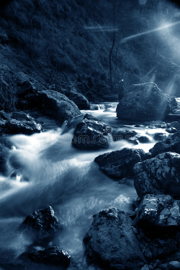Blauwe rivier royalty-vrije stock foto