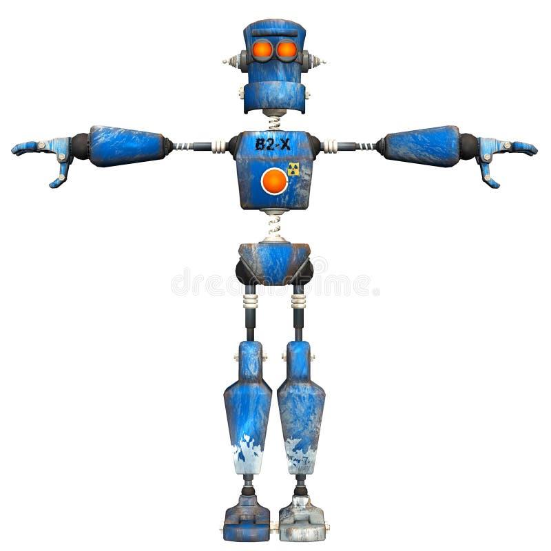 Blauwe Robot. 2 vector illustratie