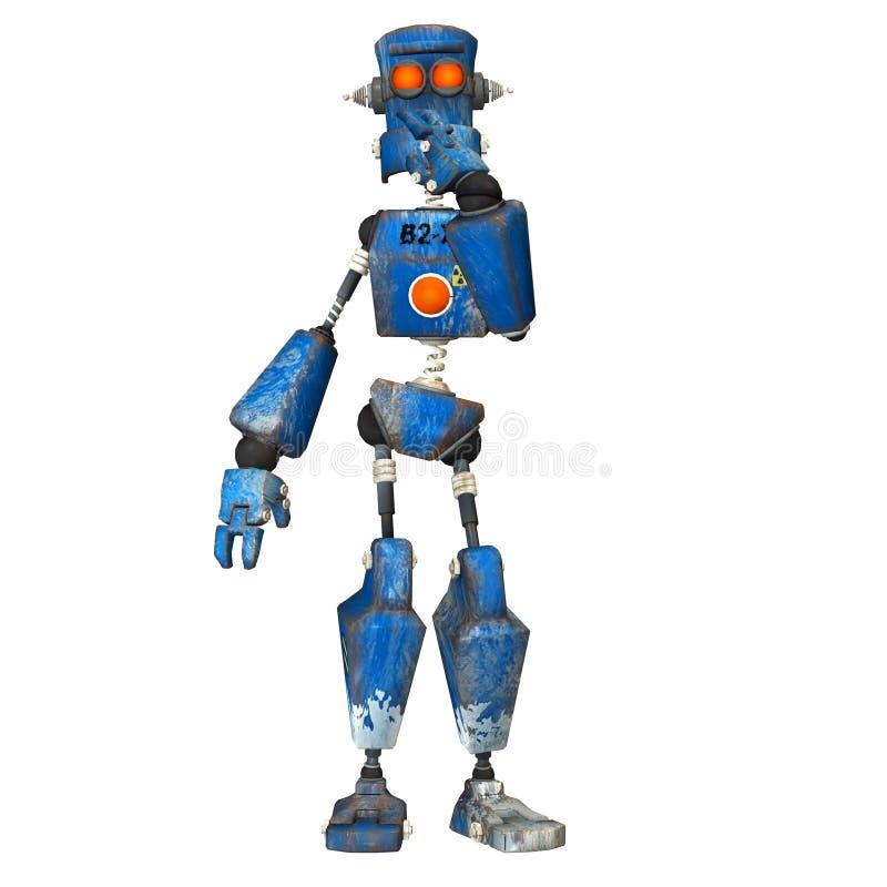 Blauwe Robot. 7 royalty-vrije illustratie