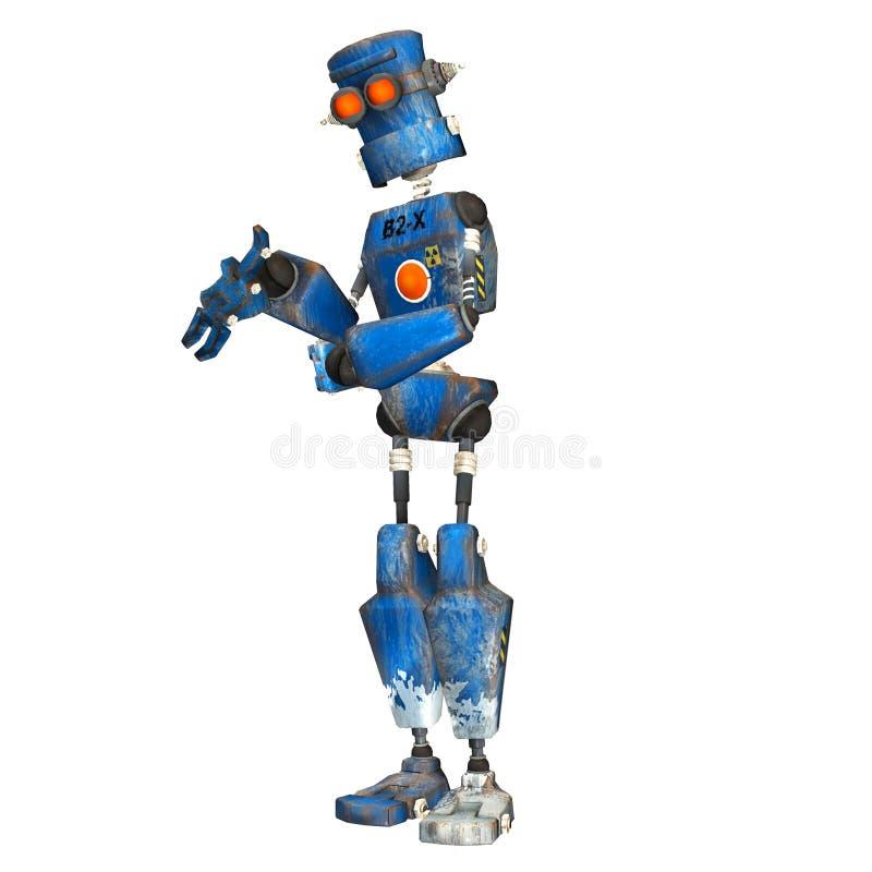 Blauwe Robot. 9 stock illustratie