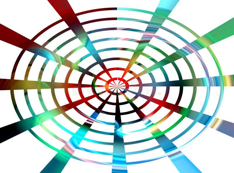 Blauwe rode circualar meetkunde abstracte achtergrond en textuur vector illustratie