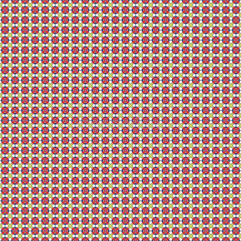 Blauwe, rode yellou abstracte achtergrond royalty-vrije illustratie