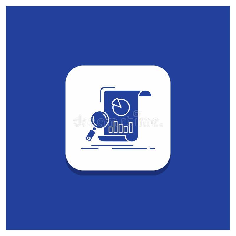 Blauwe Ronde Knoop voor Analyse, analytics, zaken, financieel, het pictogram van onderzoekglyph royalty-vrije illustratie