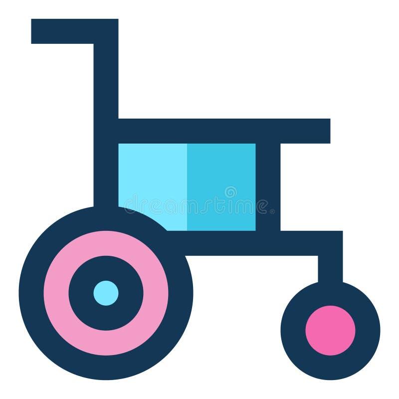 Blauwe Roze Kleur van de handicap de Medische Pictogram Gevulde Lijn vector illustratie